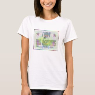 I LOVE Los Angeles Beautiful Pastel T-Shirt