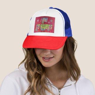 I LOVE Los Angeles Beautiful Reddish Hat