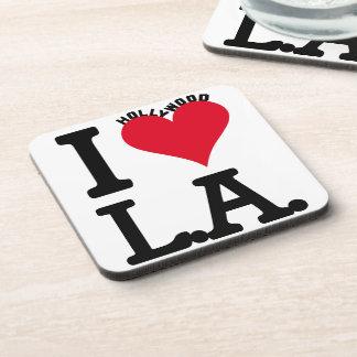 I LOVE LOS ANGELES BEVERAGE COASTER