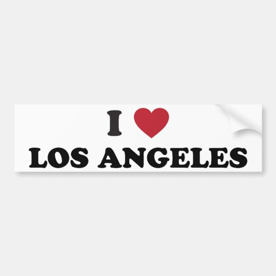 I Love Los Angeles Bumper Sticker