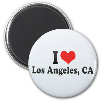 I Love Los Angeles, CA 2 Inch Round Magnet
