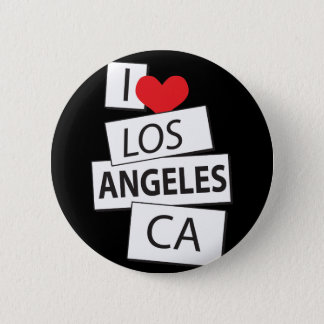 I Love Los Angeles CA Button