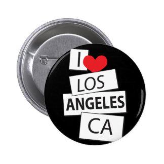 I Love Los Angeles CA Pinback Button