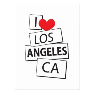 I Love Los Angeles CA Postcard