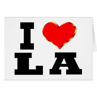 I Love Los Angeles Card