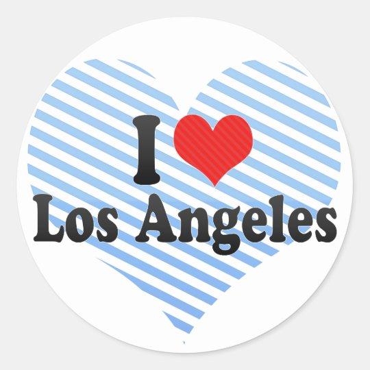 I Love Los Angeles Classic Round Sticker