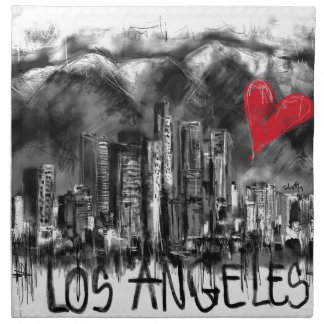 I love Los Angeles Cloth Napkin