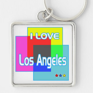 """I LOVE Los Angeles Coloring 2"" Kaychain Keychain"