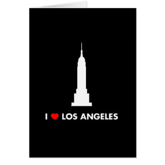 I Love Los Angeles - Empire State Building Stationery Note Card