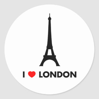 I Love Los Angeles - Empire State Building Classic Round Sticker
