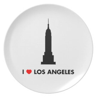 I Love Los Angeles - Empire State Building Plate