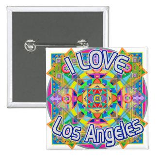 I LOVE Los Angeles Happy Button