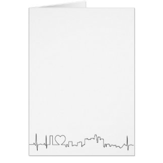 I love Los Angeles in an extraordinary ecg style Card