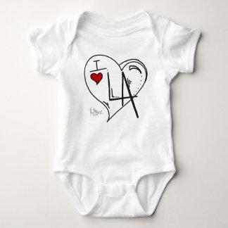 """I Love Los Angeles"" Kids Apparel Baby Bodysuit"