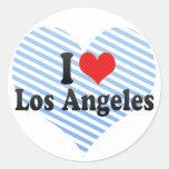 I Love Los Angeles Round Stickers