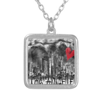 I love Los Angeles Silver Plated Necklace