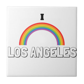 I Love Los Angeles Small Square Tile