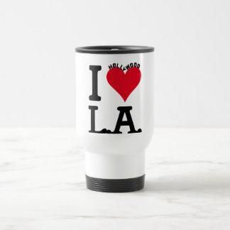 I LOVE LOS ANGELES TAZA DE VIAJE DE ACERO INOXIDABLE
