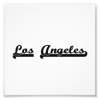 I love Los Angeles United States Classic Design Photo Print