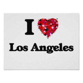 I love Los Angeles United States Poster