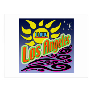 """I LOVE Los Angles: Night Sunshine"" Postcard"
