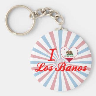 I Love Los Banos, California Basic Round Button Keychain
