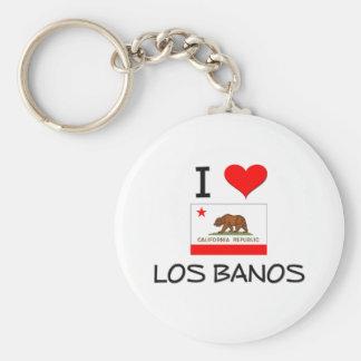 I Love LOS BANOS California Basic Round Button Keychain