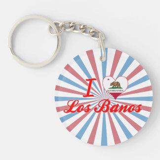 I Love Los Banos, California Single-Sided Round Acrylic Keychain