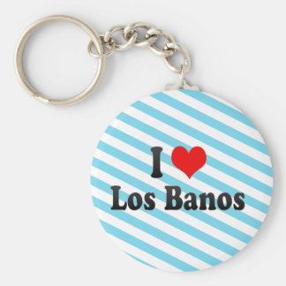 I Love Los Banos, United States Basic Round Button Keychain