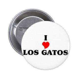 I love Los Gatos 2 Inch Round Button