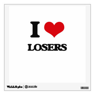 I Love Losers Wall Decal