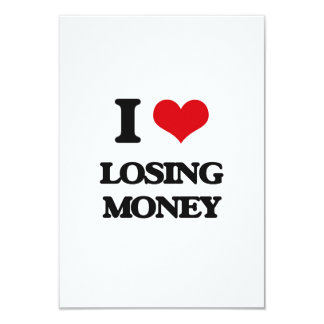 I Love Losing Money Personalized Invitation Card