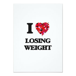 I Love Losing Weight 5x7 Paper Invitation Card