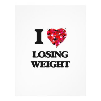 """I Love Losing Weight 8.5"""" X 11"""" Flyer"""