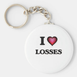 I Love Losses Keychain