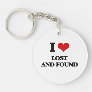 I Love Lost And Found Keychain