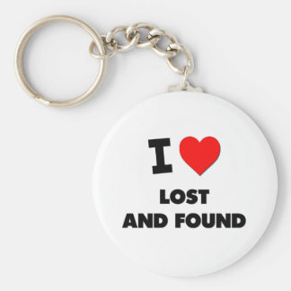I Love Lost And Found Key Chain