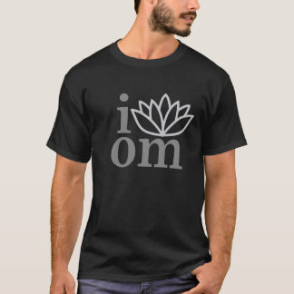I Love Lotus Om Yoga Meditation Shirt Centered T
