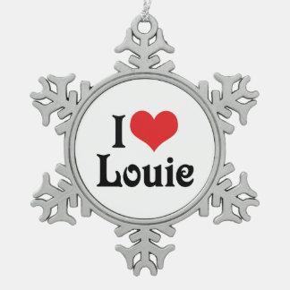 I Love Louie Snowflake Pewter Christmas Ornament