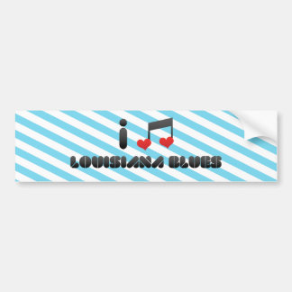 I Love Louisiana Blues Bumper Sticker
