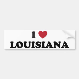 I Love Louisiana Bumper Sticker
