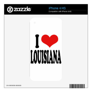 I Love Louisiana Decal For The iPhone 4