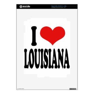 I Love Louisiana iPad 2 Decal