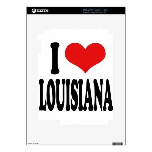 I Love Louisiana iPad 2 Decal