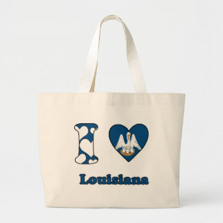 I love Louisiana Jumbo Tote Bag
