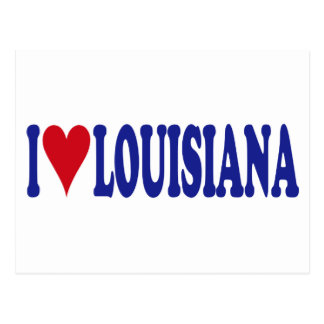 I Love Louisiana Postcard