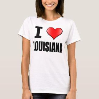 I Love Louisiana T-Shirt - Womens
