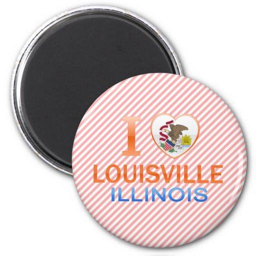 I Love Louisville, IL Fridge Magnet