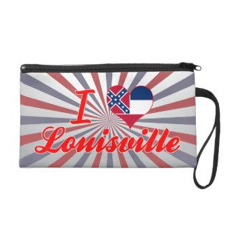 I Love Louisville, Mississippi Wristlet Purses