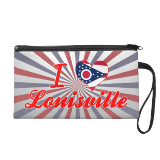 I Love Louisville, Ohio Wristlet Clutch